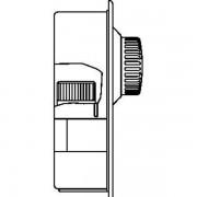 Oventrop Unibox E Plus retour en ruimtetemperatuurregeling 20 40 °C / 7 28 °C inbouw verchroomd 1022643