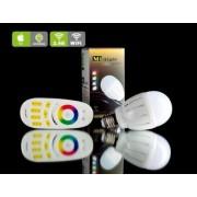 E27-6W-RGBW-220V + RGB távirányító