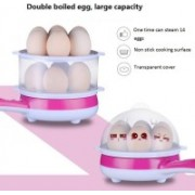 Flipzone 2 In 1 Double Layer Electric Non Stick Mini Egg Frying Pan Boiler. Fz-100 Fz-100 Egg Cooker(Pink, 14 Eggs)