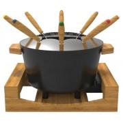 Set fondue electric Princess 0117302501001, 1200 W, 1.5 l, 4 setari incalzire (Negru/Maro)