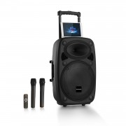 "Auna Pro Streetstar 12, мобилна PA система, 12"" субуфер, BT/USB/SD/MP3/AUX, тролей (PAS4-Streetstar 2.0 12)"