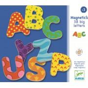 38 Litere magnetice colorate Djeco