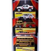 Best of Matchbox Collection Lamborghini - Fire Truck & Double Decker Bus SUPREME PK MBX 2016 Real Rubber Tires...