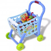 Kids'/Children's Playroom Toy Shopping Trolley Cart 3-in-1 Blue