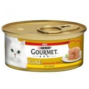 Gourmet Gold Smeltende Kern Kattenvoer 12 x 85 g - Kip