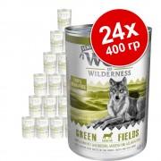 Икономична опаковка Wolf of Wilderness Senior 24 x 400 г - Wild Hills - патешко и телешко