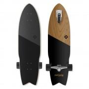 "Street surfing Longboard Street Surfing Shark Attack Koa Black 36"""