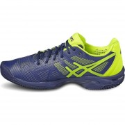 Tenis Deportivos Hombre Asics Gel-Solucition 3 Clay-Azul