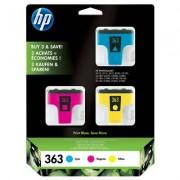 HP 363 3-pack cyan/magenta/gul original bläckpatron