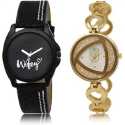 The Shopoholic Black Silver Combo New Stylist Latest Black And Silver Dial Analog Watch For Girls Belt Watches For Women