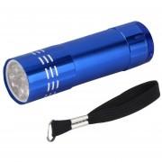 ER 1pc Mini De Aluminio UV Ultravioleta 9 LED Linterna Antorcha Lámpara De Luz Nuevo Azul.