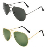 Zyaden Combo of 2 Aviator Sunglasses