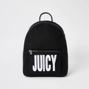 River Island Womens Juicy Couture Black logo print backpack (One Size)