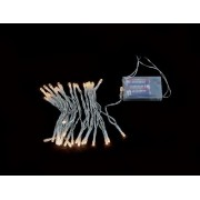 Ghirlanda luminoasa decorativa 40 LED-uri albe lumina calda cablu transparent WELL