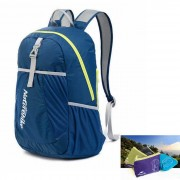 NatureHike del bolso plegable de doble hombro mochila - azul marino (22L)