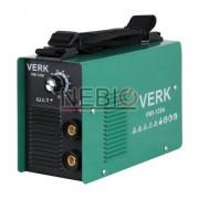 Aparat de sudura Verk VWI-120A, Electrod 1.0 - 3.2 mm, 5 Kg, Accesorii incluse, Verde