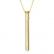 Vesper - luxus vibrátor nyaklánc (arany)