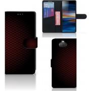 Sony Xperia 10 Plus Telefoon Hoesje Geruit Rood