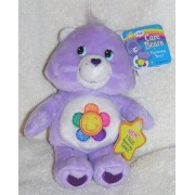 """2004 Care Bears 7"""" Plush Talking Harmony Bear Bean Bag Doll I Talk! Squeeze My Tummy"""