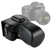 Full Body Camera PU Leather Case Bag for Nikon D7200 / D7100 / D7000 (18-200 / 18-140mm Lens) (Black)