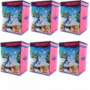 Tom Jerry Storage Box Big with Lid Toys Organizer for Kids Large Pink set of 6