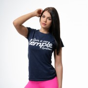 GymBeam Ženska majica Temple Navy L