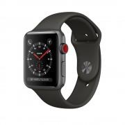Умные часы Apple Watch Series 3 Cellular 38mm Aluminum Case with Gray Sport Band MR2W2 (Спортивный ремешок цвета черный)