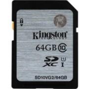 Kingston 64 GB SDXC Class 10 80 MB/s Memory Card