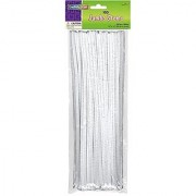 Creativity Street Chenille Stems/Pipe Cleaners 12 Inch x 6mm 100-Piece White