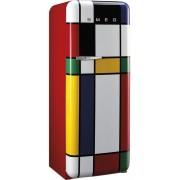 SMEG FAB28RDMC3 retro egyajtós hűtőszekrény - jobbos - multicolor