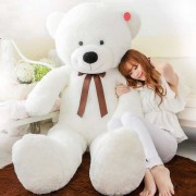 5 Feet Big White Smiling Teddy Bear - 60 Inch