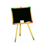Tablita de lemn pentru scris si desenat colorata cu suport 48cm x 40,5cm x 82,5 cm