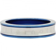 The Jewelbox Neon Blue Eternally Yours Tungsten Wedding Engagement Band Ring For Men