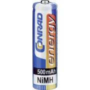 Set 4 acumulatori NiMH, AAA, 1,2 V, 500 mAh, Conrad Energy