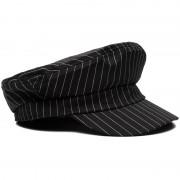 Zeemanspet Zwart Wit Gestreept - Hoeden