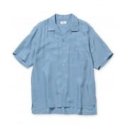 キュプラレーヨン開襟シャツ