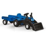 Ranchero alsópedálos traktor utánfutóval és kotrókanállal