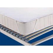 Protectie saltea impermeabila iSleep Easy 160 x 200 cm tesatura bumbac delicata si silentioasa fixare cu benzi elastice