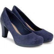 Clarks Chorus Chic Navy Suede Belly Shoes For Women(Navy)