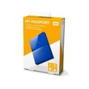 DD EXTERNO PORTATIL 4TB WD MY PASSPORT AZUL 2.5/USB3.0/COPIA LOCAL/ENCRIPTACION/WIN