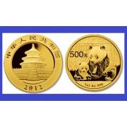 China 2012 - 500 yuan, moneda cu panda, aurit