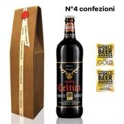 Birra Morena 4 Confezioni Regalo Celtica Sweet Stout cl 75 - Craft Beer