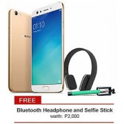 Oppo F3 Plus selfie expert + Bluetooth headset + selfie stick