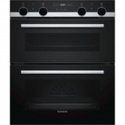 Siemens iQ500 NB557ABS0B Double Built Under Electric Oven - Black