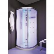Box doccia idromassaggio angolare 80x80 cm White Space Vapor bianco