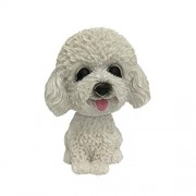 Iuhan Bobble Head Toy Animal Swinging Animated Bobble Dancer Toy Car Decor Nodding Resin Puppy Dog AS The Picture Shows E