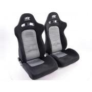 FK-Automotive sedile sportivo coppia di sedili Chicago (1xsinistra/1xdestra) grigio/nero