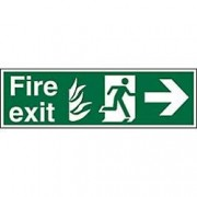 Unbranded Fire Exit Sign Right Arrow Vinyl 20 x 60 cm