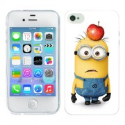 Husa iPhone 4S Silicon Gel Tpu Model Minions