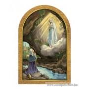 Aranyozott faplakett (Lourdes-i jelenés)